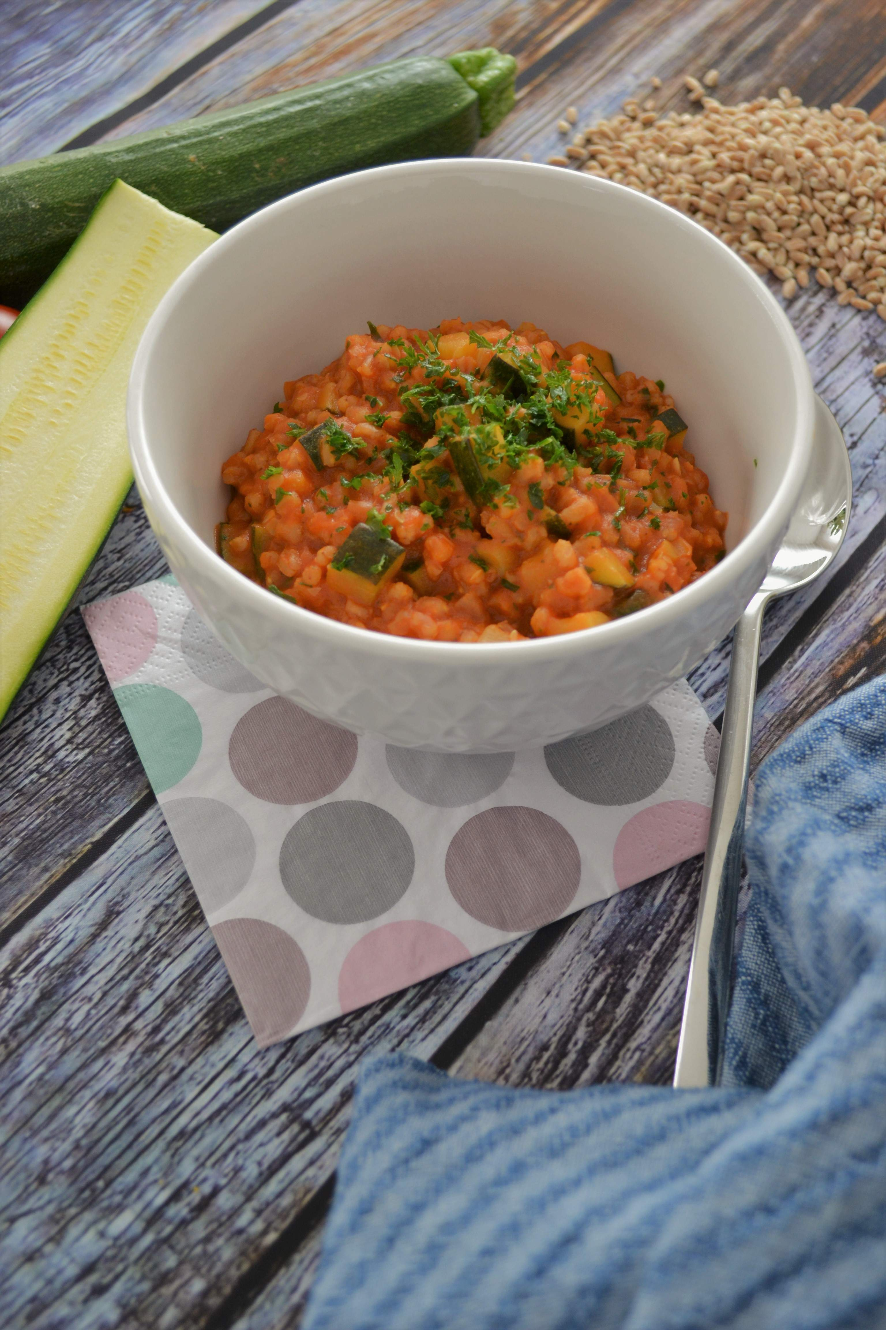 Dinkel-Tomaten-Risotto