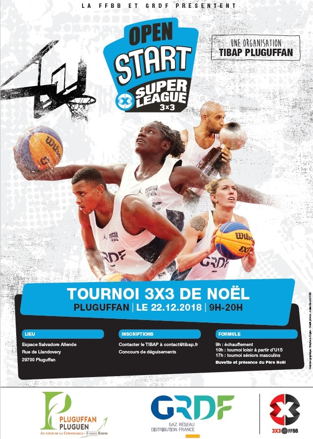 2ème édition du Christmas 3x3, tournoi officiel SuperLeague GRDF