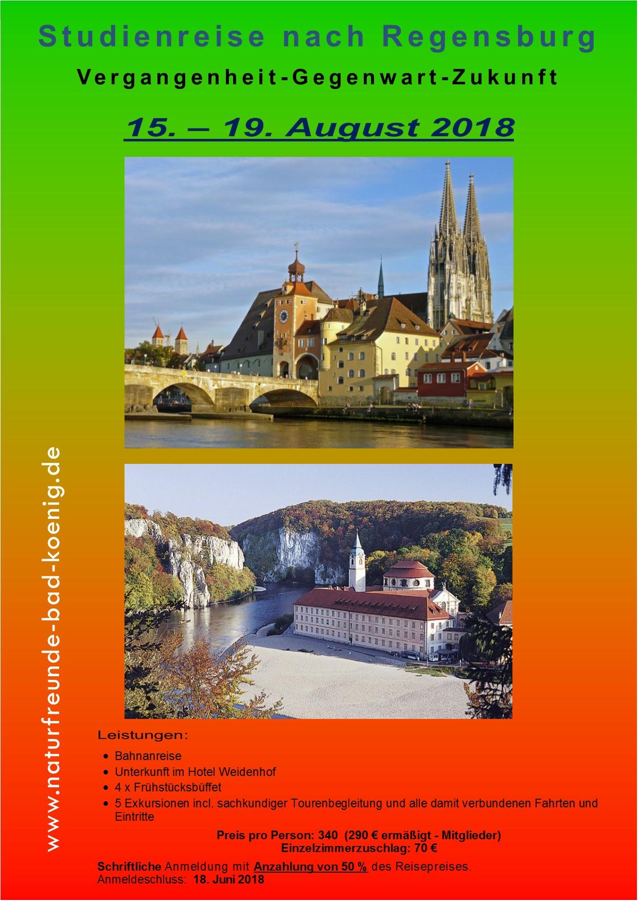 Studienreise nach Regensburg 15 - 19 August 2018jpg