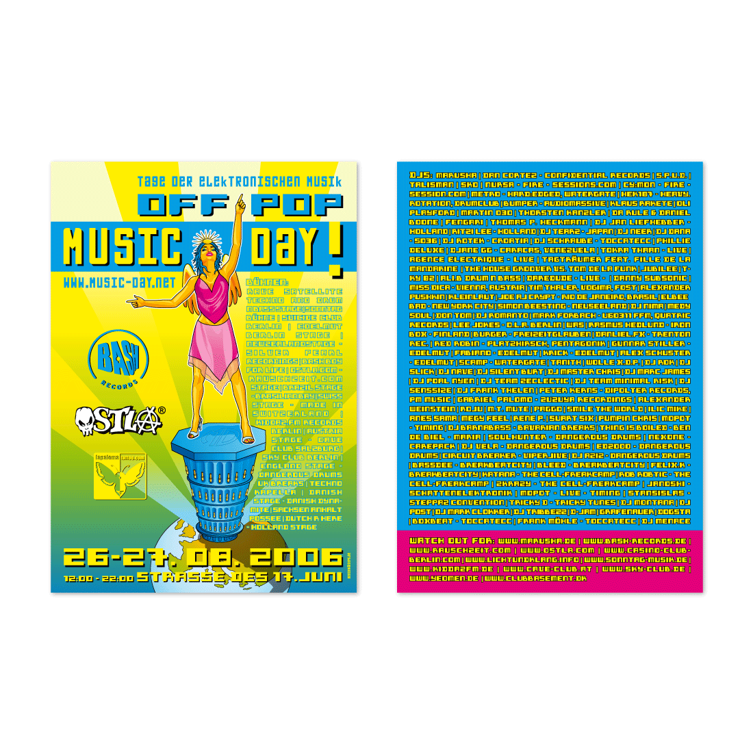 Party-Flyer | OffPop MusicDay · Berlin