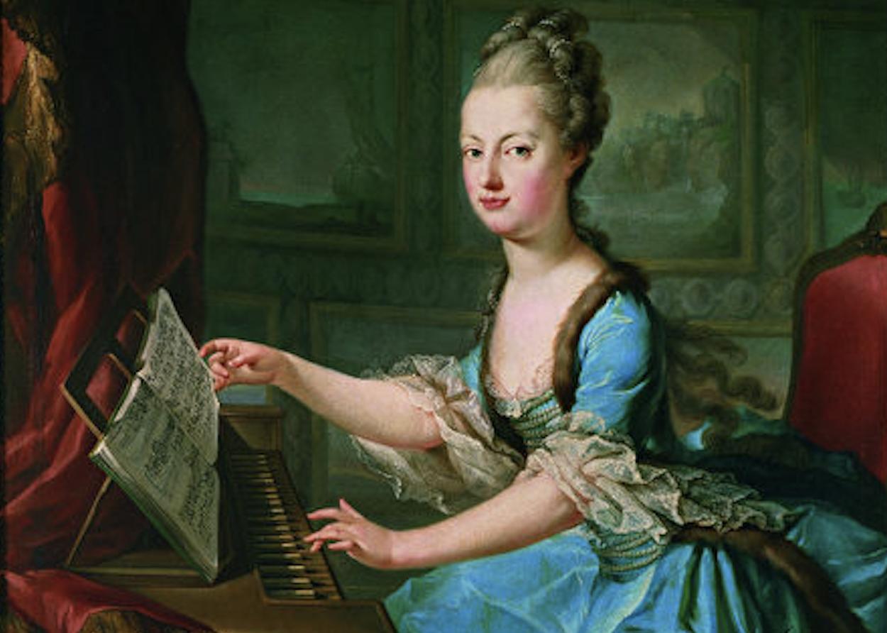 Marie Antoinette am Klavierpng