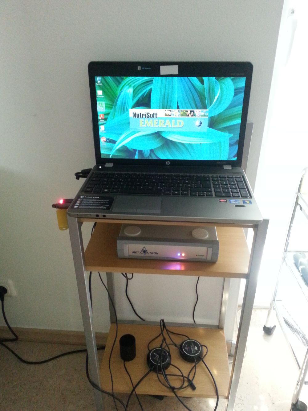 Metatron Nutrisoft Emerald 4017 mit HP Laptop, Bj. 2012
