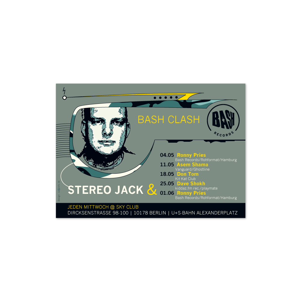 Party-Flyer | Stereo Jeck @ Sky Club · Berlin
