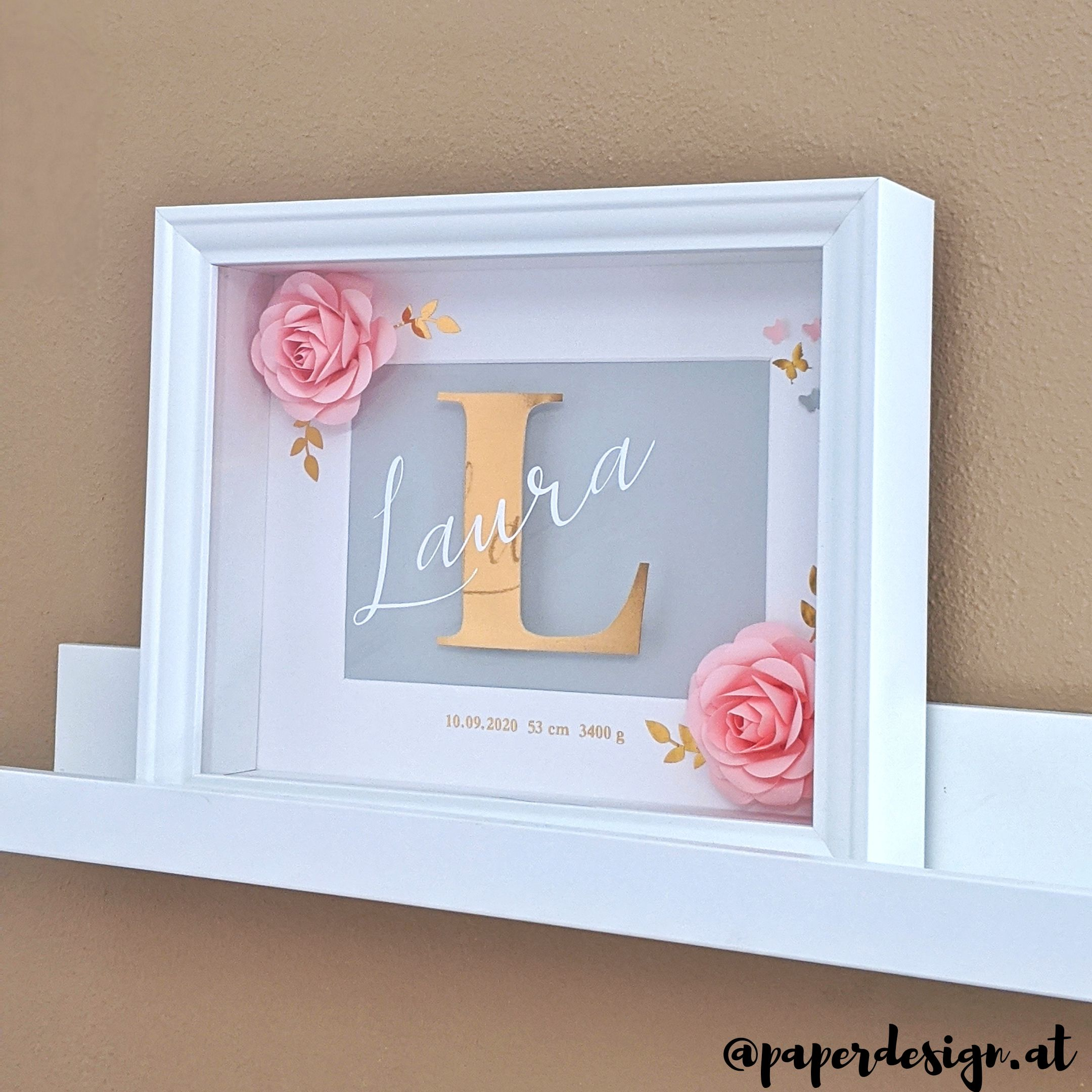 "Shadow Box ""Rose&Grey"""