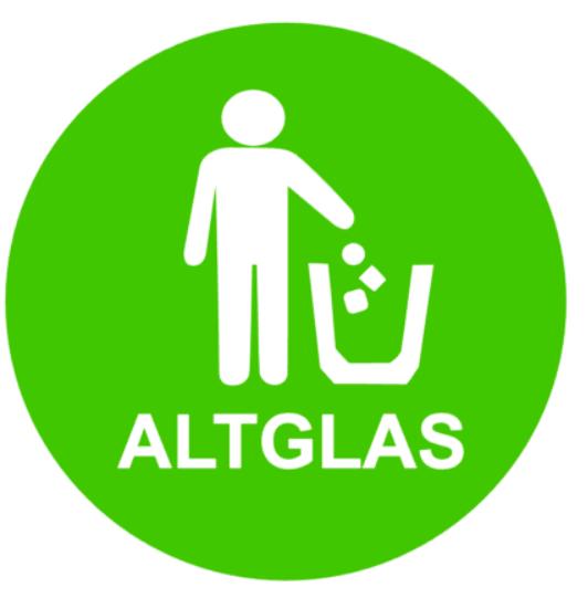 Altglas M/ülltonnen Aufkleber 15x15cm Mistk/übel M/ülleimer Aufkleber f/ür Deutschland Restm/üll Altglas gelber Sack Metall Bio Kunststoff Papier 187//1