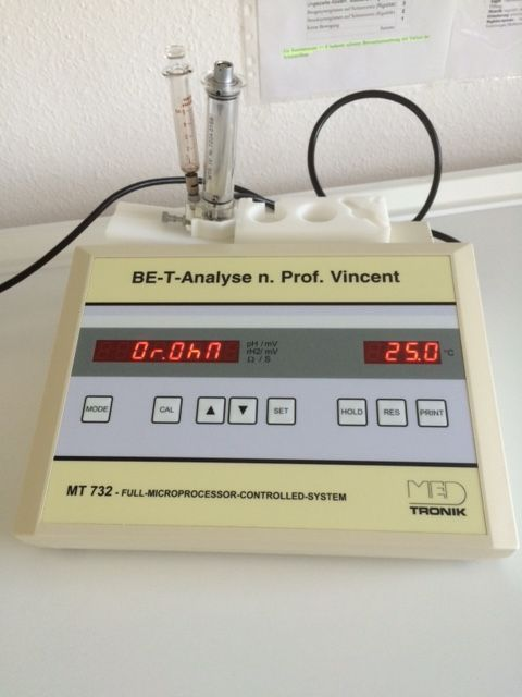BET-Analyse MED TRONIC nach Prof. Vincent MT 732, Bj. 2003