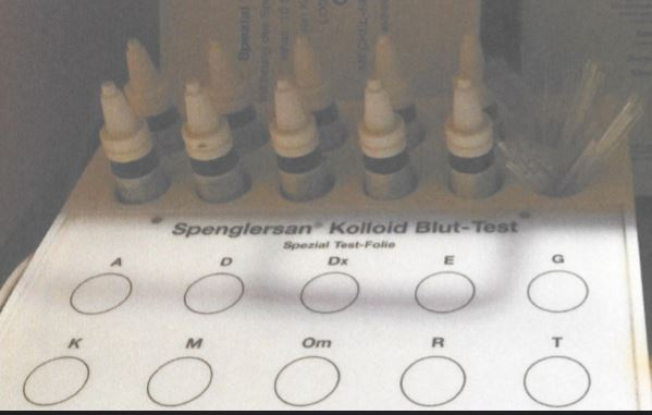 Sprenglersan Koloid Blut-Test