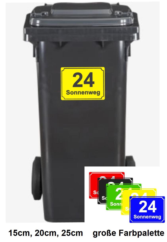 Hausnummern Aufkleber 15cm 20cm Oder 25cm Adresse Mülltonnen